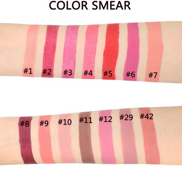 14 Colors Matte Lipstick Lips Make Up Waterproof Velvet Lip Stick Nude Red Brown Lips Makeup Matt Long Lasting Lipsticks 2