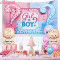 Amawill Gender Reveal Balloons Set Girl Or Boy Tapestry Party Background Cloth Baby Shower Balloon Activity Decorations Kids