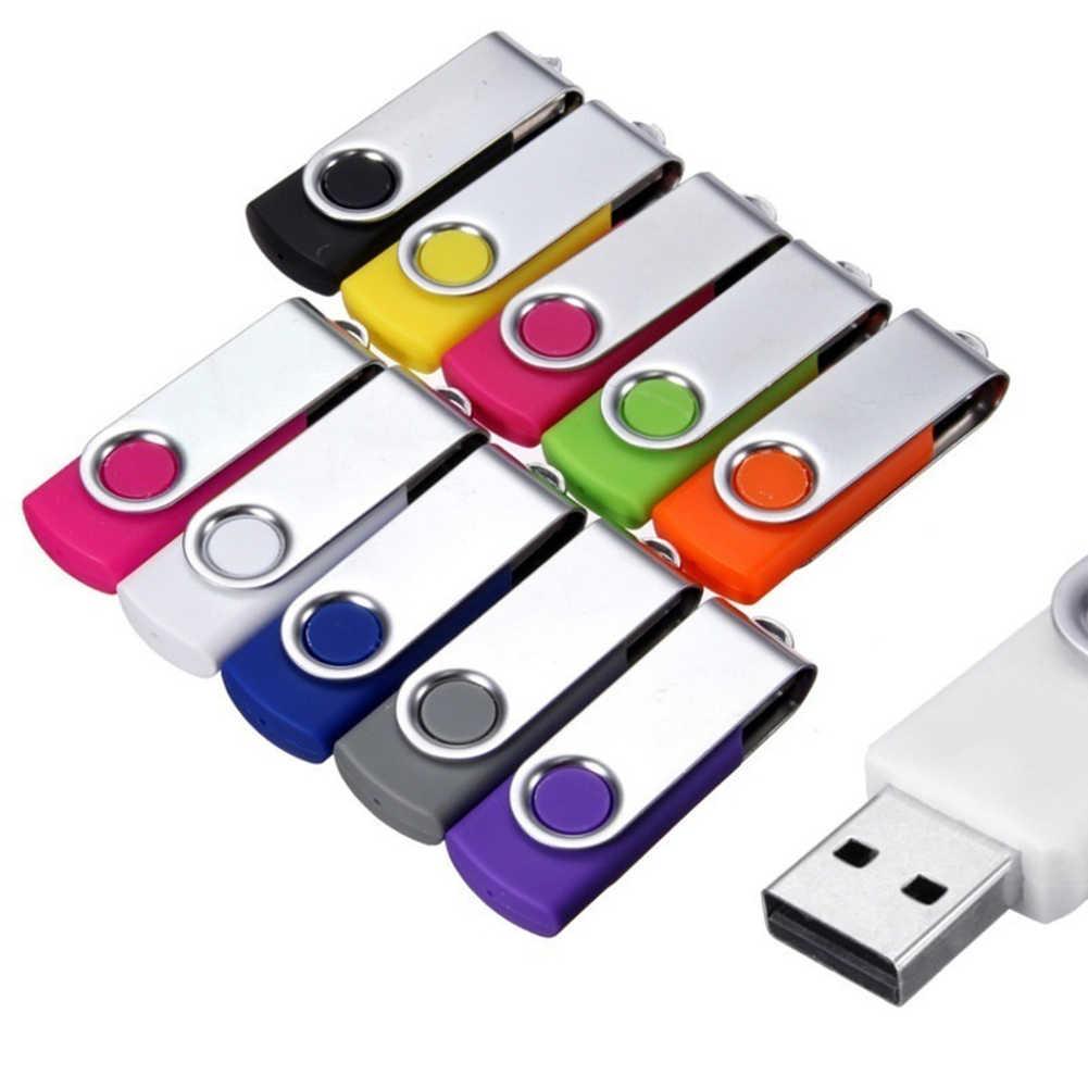 Wholesales צבעוני 64MB נייד מסתובב USB 2.0 זיכרון פלאש מקל עט כונן אחסון נתונים Rotatable U דיסק למחשב