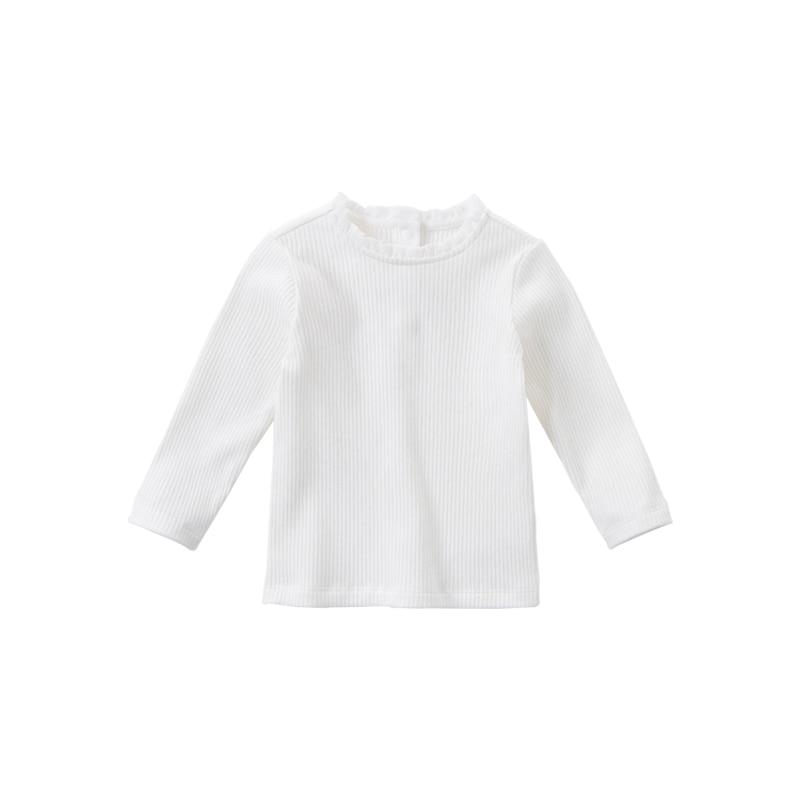 DB15908 dave bella autumn baby girls cute solid T-shirt children tops girl kids fashion tees 7