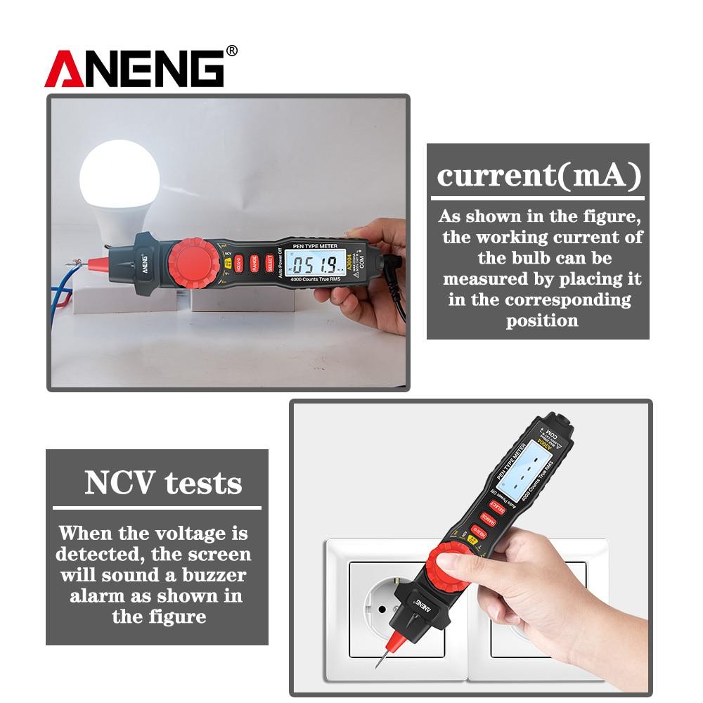 A3003 Digital Multimeter Pen Type Meter 4000 Counts Voltage Current Tester ♞