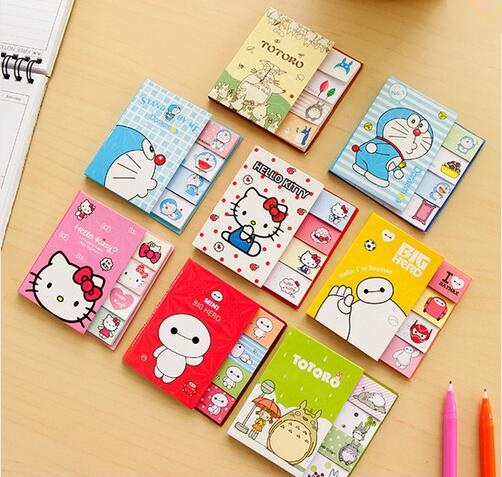 1pcs/lot Japan Cartoon Series Notepad Sticky Note Pads Memo Writing Scratch Planner Stickers