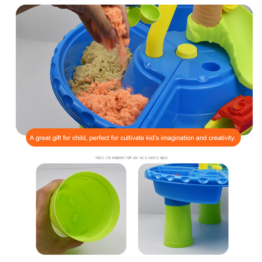 22pcs Garden Beach Toy Set Outdoor Activity Multipurpose Summer Kids Gift Detachable Sand Table Digging Pit Water Colorful