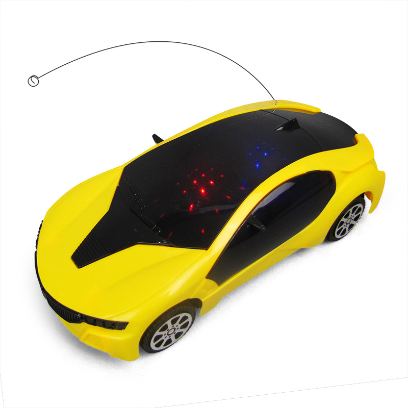 Children'S Educational 1: 20 SMV Steering Wheel Remote Control Sports Car 3D Light Electric Toys Sports Car Stall Hot Sales