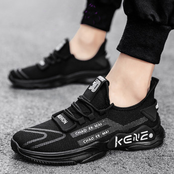 Męskie trampki na platformie lekkie miękkie sportowe buty męskie walking Mesh oddychające tenisowe buty do biegania męskie wsuwane buty sportowe tanie i dobre opinie JCAVEFOR Siateczka (przepuszczająca powietrze) podstawowe CN (pochodzenie) Na wiosnę jesień Buty casualowe Dobrze pasuje do rozmiaru wybierz swój normalny rozmiar