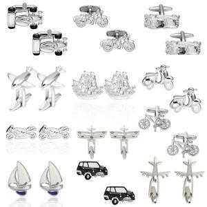 Запонки «Транспорт» для мужских самолетов/автомобилей/велосипедов/Автобусов/лодок/моторов, запонки от делового бренда gemelos para hombre camisa