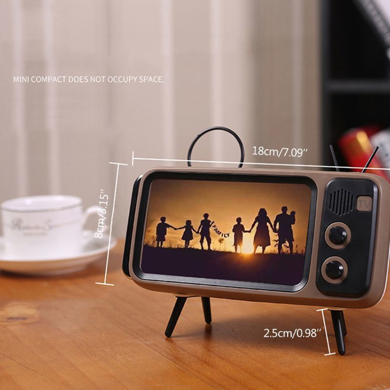 New Retro TV Mobile Phone Screen Stand Mobile Phone Holder Stand For 4.7-5.5 Inch For IPhone 7 8 X For Xiaomi For Huawei
