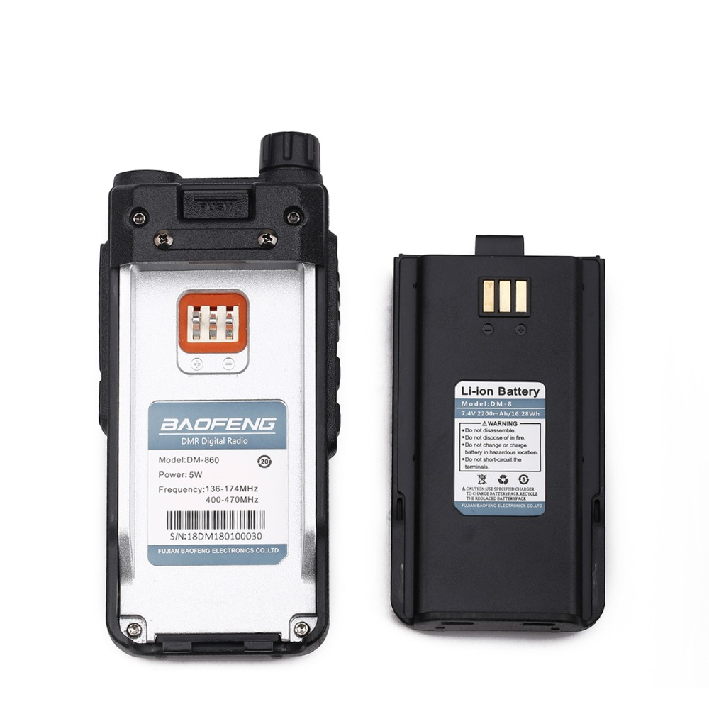 Baofeng Original 7.4 V 2200mAh Battery For Baofeng DM-1801 DM-860 DMR Walkie Talkie Two Way Radio