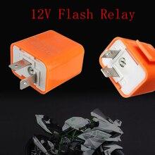 цена на 2-Pin Speed Motorcycle  Adjustable LED Flasher Relay Motorbike Turn Signal Indicator Hyper Flashing 12V Flash Relay