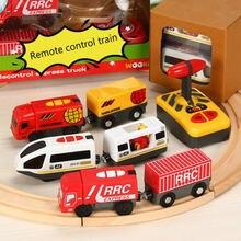 Набор игрушечного электрического маленького поезда с дистанционным