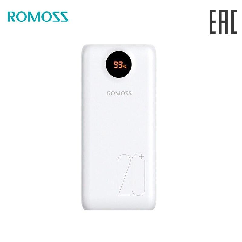 Внешний аккумулятор ROMOSS SW20PS+ 20000 mAh с показанием уровня заряда повербанк с индикатором [ доставка из России]