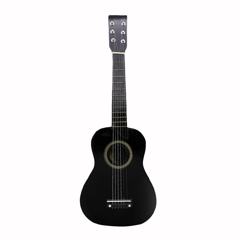 IRIN Mini 23 Inch Basswood 12 Frets 6 String Acoustic Guitar with Pick and Strings for Kids / Beginners(black) image