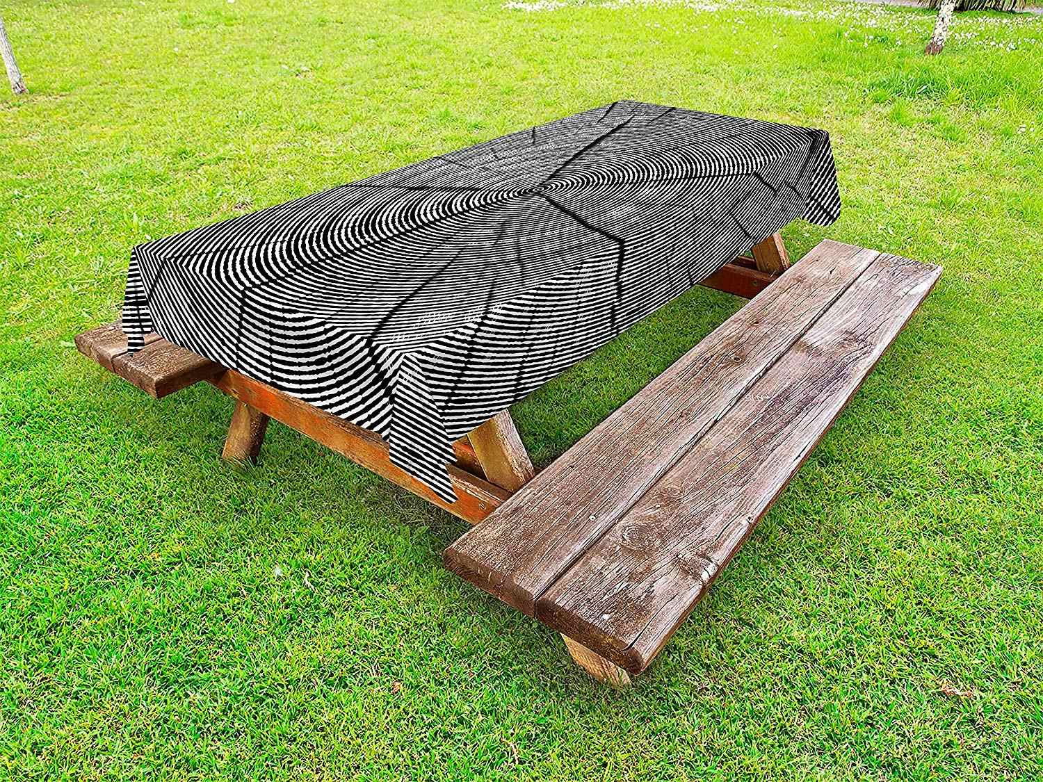 Wood Print Outdoor Tablecloth Sketch Of A Tree Trunk With Age Rings Nature Inspired Monochrome Design Decor Picnic Table Cloth Tablecloths Aliexpress