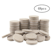 Furniture-Pads Felt Floor-Protectors Round for Hard-Surfaces 48PCS Thicker 1inch-Diameter