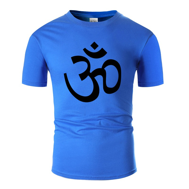 Personality <font><b>Om</b></font> <font><b>Tshirt</b></font> Men 100% Cotton Round Collar Men And Women <font><b>Tshirts</b></font> Plus Size S-5xl Hiphop Tops image