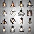 Скандинавские светодиодные подвесные светильники Ретро промышленный стиль Кофе Ресторан личность бар железная клетка художественная под...
