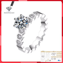 S925 Sterling Silver Ring 1ct 2ct D Color Moissanite Rings Hollow Women Fine Jewelry Certificate Drop Shipping