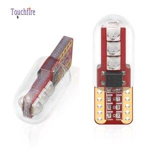 Image 5 - 100 sztuk T10 LED W5W oświetlenie tablicy rejestracyjnej 3030LED 3SMD z obiektywem Auto Wedge Turn Side żarówki wnętrze czytanie lampa kopułkowa hurtownie