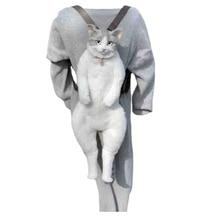 Novelty Cute Stuffed Cat Backpack Funny Realistic Lifelike Animal Plush Toy Bag
