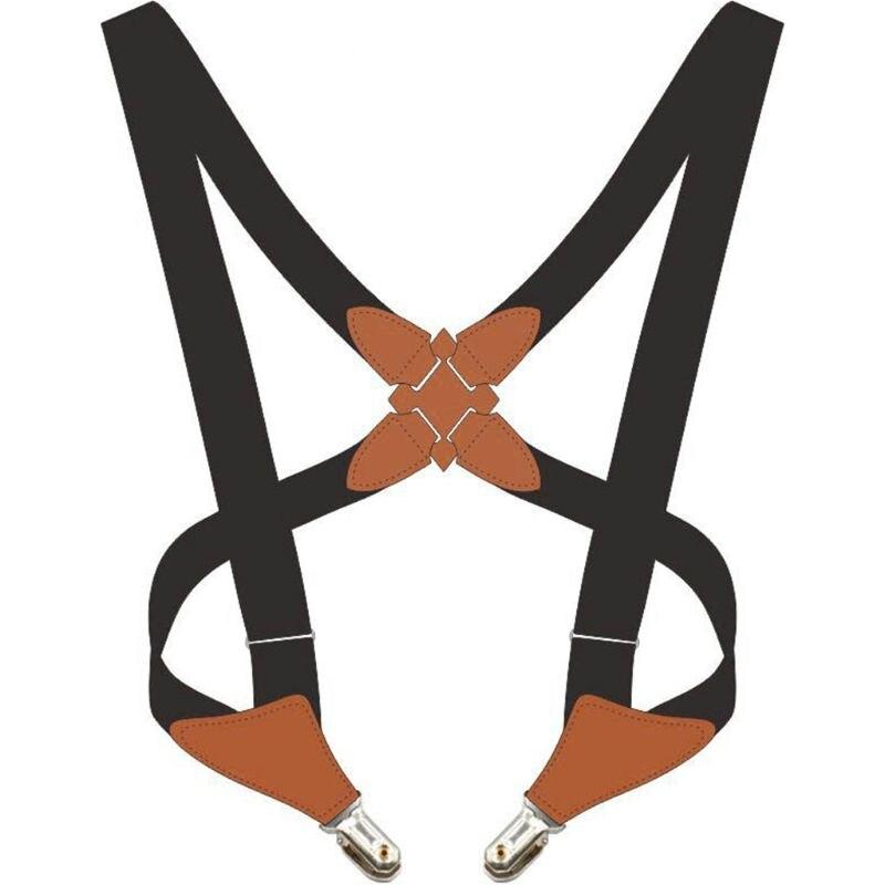 Adjustable Adult Suspend Belt Unisex Crossover Clip-on Braces Shoulder Strap M6CD
