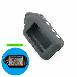 Image 2 - Funda de silicona para llave de coche, para Sher khan Mobicar A Mobicar B, versión rusa, LCD bidireccional, mando A distancia, llavero con alarma