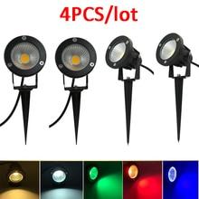 4PCS 9W LED กลางแจ้งสวนโคมไฟ LED สวนภูมิทัศน์ AC220V110V 12V กันน้ำไฟ LED สวนเส้นทางสปอตไลท์