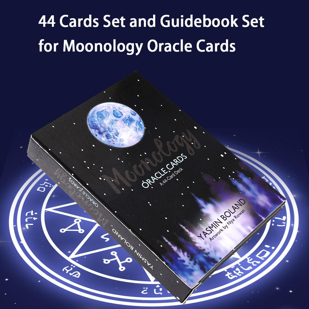 44pcs/ Set Moonology Oracle Cards Magical Tarot Cards Party Entertainment Desk Game Cards With English Guidebook