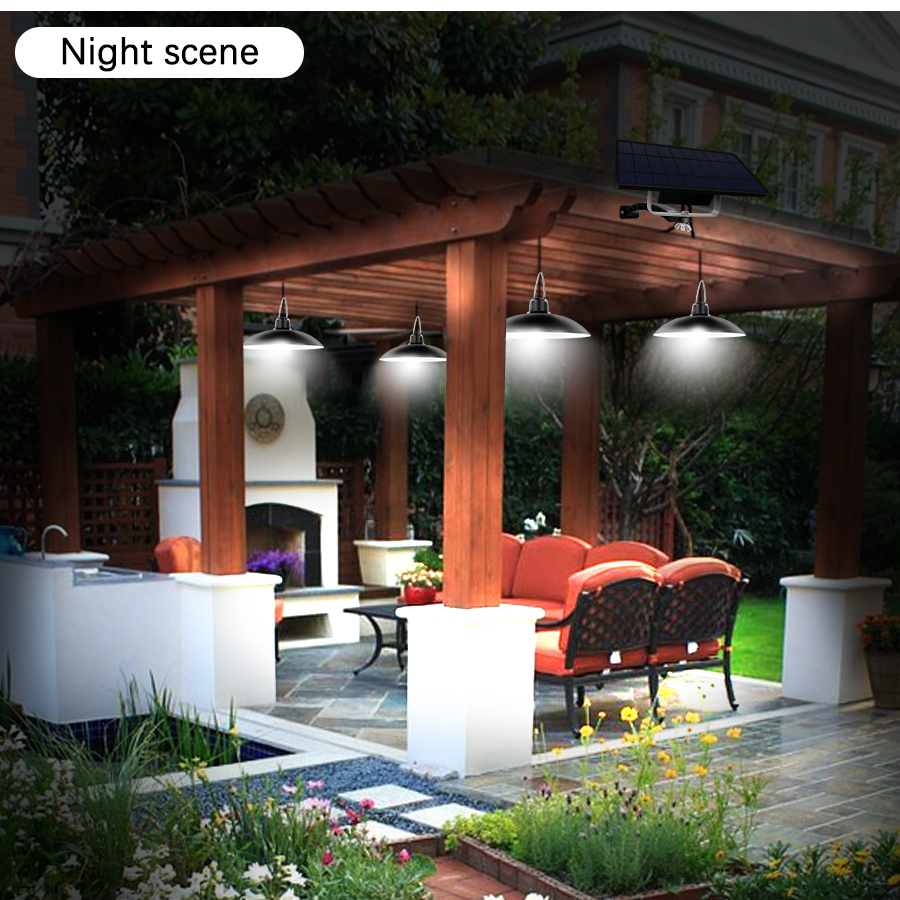 Single and Double Head Solar Pendant Light for Outdoor and Indoor With White and Warm White Lighting 15