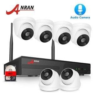 Камера видеонаблюдения ANRAN, 6 каналов, беспроводная, 1080P, NVR, 2 МП, инфракрасная, P2P, Wi-Fi, IP, камера видеонаблюдения системы безопасности, комплек...
