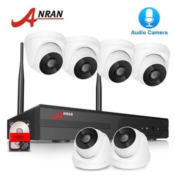 ANRAN 6CH CCTV System Wireless 1080P NVR 2MP IR Outdoor P2P Wifi IP CCTV Security Camera System Video Surveillance Kit APP