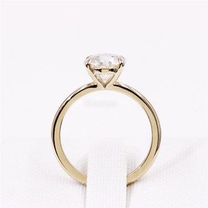 Image 4 - CxsJeremy 2.0Ct Round Solitaire Moissanite Engagement Ring14K Yellow Gold Moissanite Diamond Wedding Band Anniversary Gift