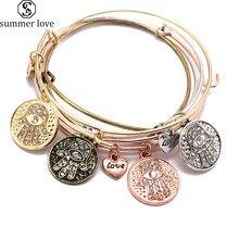 Простой Браслет Морская звезда крест Хамса проволока очаровательный браслет Femme манжеты браслеты для женщин прекрасный подарок известный бренд ювелирные изделия