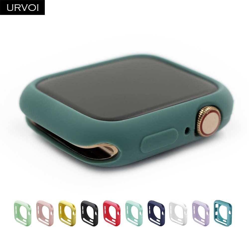 URVOI Candy TPU case for apple watch series 5 4 3 21 colorful cover protector for iWatch 38 42 40 44mm fit Ultra-thin frame band