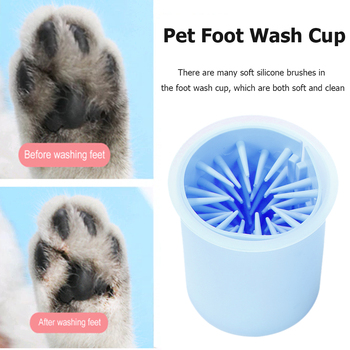 Portable Dog Cat Dirty Paw Cleaner Cup Pet Puppy Dog Soft Feet Washer   1