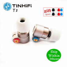TINHIFI T3หูฟัง1BA + 1DD Knowlesไดรฟ์HIFIหูฟังโลหะหูฟังหูฟังGold Plated OFC SPCสายดีบุกT4 T2 P1