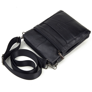 Image 3 - Duurzaam Frosted Lederen Mannen Messenger Bags Vintage Beroemde Merk Business Casual Man Zak Kleine Eenvoudige Leren Tas