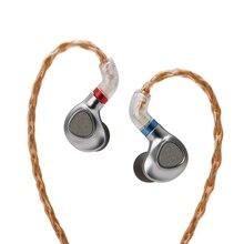 TINHiFi P2 2nd דור מישוריים אוזניות מתכת באוזן אוזניות HIFI מוסיקה צג אוזניות עם 2PIN להחלפה כבל