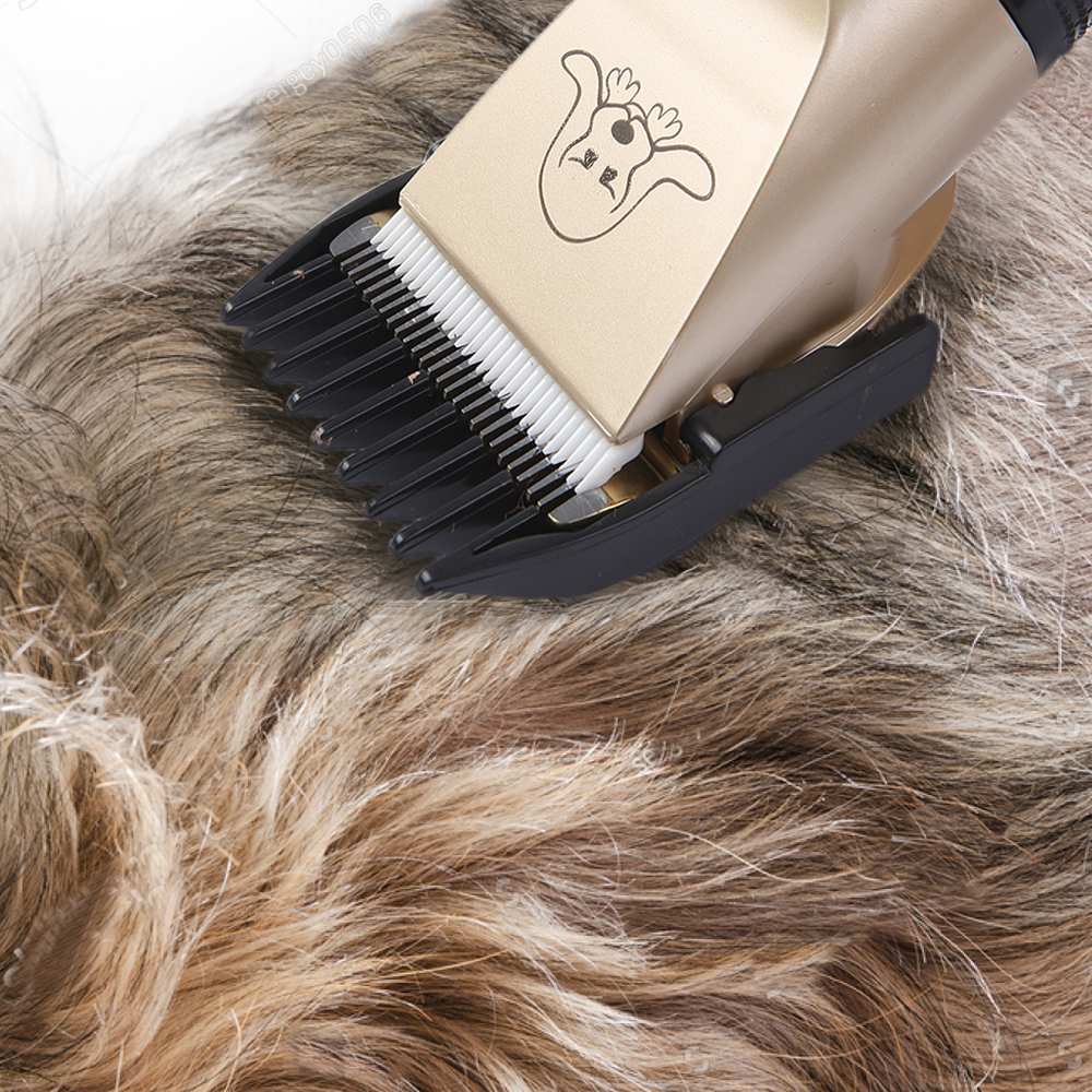 Powerful Cordless Rechargeable Low Noise Pet Grooming Trimmer 12