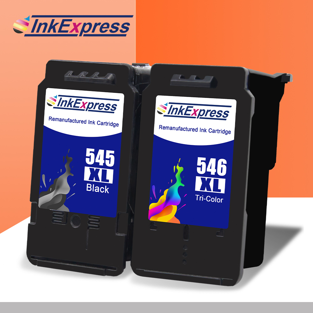 InkExpress 545XL 546XL Remanufactured Ink Cartridge Compatible For Canon Pixma Ip2850  MG2950 MG2450 MG3050 MX495 TS205 Printer