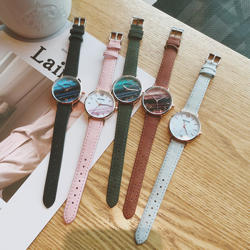 Fashion Women Marble Watches Korean Style Retro Ladies Quartz Watch Female Exquisite Leather Wrist Watches montre femme 2019 Hot