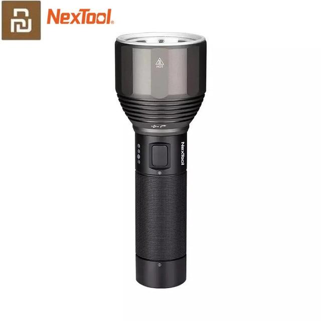 NexTool مصباح يدوي قابل لإعادة الشحن 2000lm 380 متر 5 طرق IPX7 أضواء LED مقاومة للماء نوع C سيشينغ الشعلة للتخييم