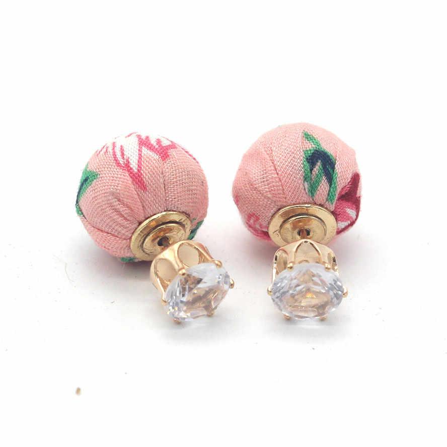 Jóias da moda Perder dinheiro Flor Lados dobro Crown brinco para mulher Da Menina 2019 Nova barato long bonito brincos pequenos presentes