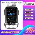 Автомагнитола Kaudiony, мультимедийный плеер на Android 12,1 для Ford Ranger F250, 10,0 дюйма, GPS, 4G, 2012-2015