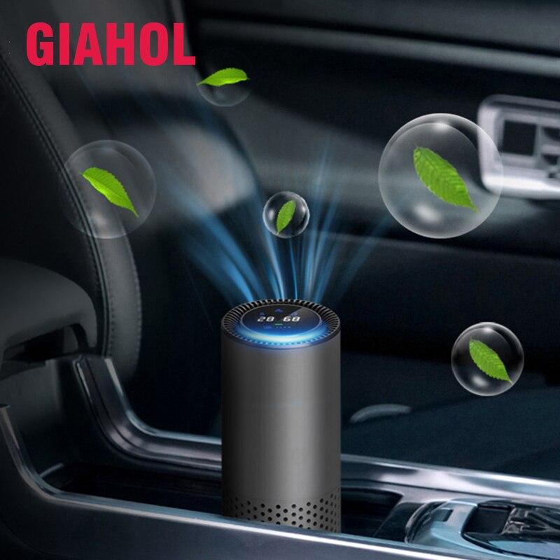 Giahol hepa inteligente purificador de ar do carro/natureza purificador de ar fresco melhor para carro escritório em casa acessórios automóveis para viagens purificador