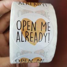 1.5 polegada obrigado adesivos para decoração de caixa de presente etiquetas de papelaria envelope selo etiquetas carta redonda me abrir já adesivos