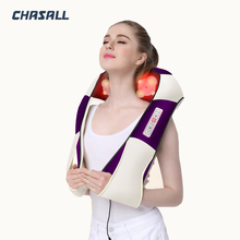 Masajeador de cuello eléctrico en forma de U, cuero Premium, para coche/hogar, masaje caliente por infrarrojos, Shiatsu, para hombro, pierna, cuerpo y espalda