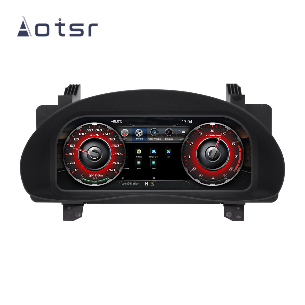 Android 9.0 For Toyota Corolla 2014 2015 2016 2017 Full LCD Instrument Dashboard Panel Assembly Car Navigation Multimedia Player
