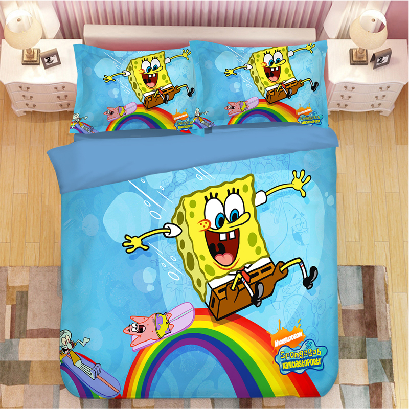 SpongeBob ensemble de literie dessin animé | Housses de couette, linge de lit, pantalon carré, ensembles de literie, vêtements de lit, Patrick Star