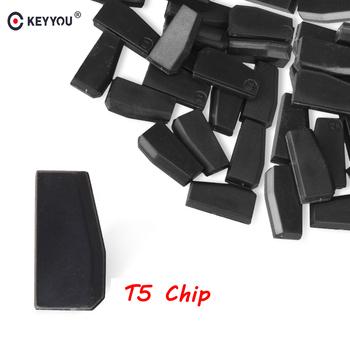 KEYYOU 5x 10x 20x 50x T5-20 Chip transpondera puste węgla T5 Cloneable Chip dla Auto klucz samochodowy cemimic klucz samochodowy T5 Chip nowy tanie i dobre opinie without CN (pochodzenie) ABS Plastic in China