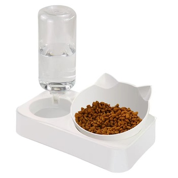 Automatic Feeder Double Bowl with Water Fountain